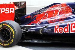 Scuderia Toro Rosso uitlaat en ophanging