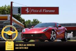 De F12 Berlinetta wint de 2012 Auto Bild Goldenes Lenkrad Award