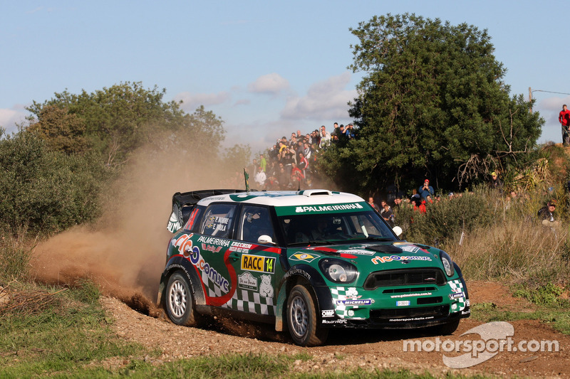 Paulo Nobre And Edu Paula Mini John Cooper Works Wrc At Rally De Espana