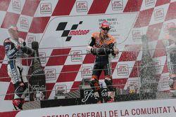 Podio: ganador Dani Pedrosa, Repsol Honda Team, segundo lugar Katsuyuki Nakasuga, Yamaha Factory Rac