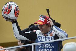 Podio: segundo lugar Katsuyuki Nakasuga, Yamaha Factory Racing