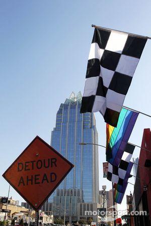 Geblokte vlaggen in Austin