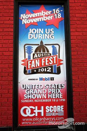 Fan Fest spandoek in Austin