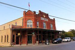Toeristisch dorpje Gruene, een uur ten zuiden van Austin