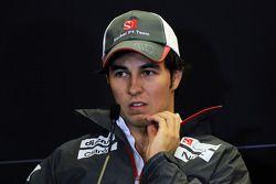 Sergio Perez, Sauber in de FIA persconferentie
