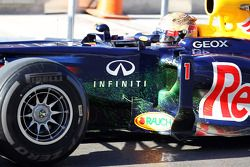 Sebastian Vettel, Red Bull Racing met flow-vis verf