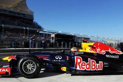 Sebastian Vettel, Red Bull Racing verlaat de pits