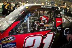NASCAR Camping World Series 2012 champion James Buescher, Turner Motorsports Chevrolet celebrates