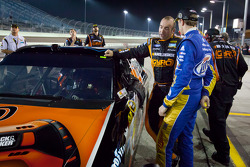 Provisional pole sitter Marcos Ambrose, Richard Petty Motorsports Ford with Brad Keselowski, Penske Racing Dodge