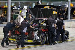 Wrecked truck of Kyle Larson, Earnhardt Ganassi Racing Chevrolet
