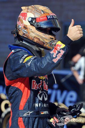 Polepositie Sebastian Vettel, Red Bull Racing viert