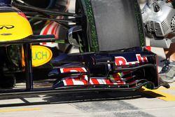 Flow-vis verf op de Red Bull Racing