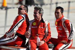 Race winnaar Emmanuel Anassis, 2de Alex Popow, 3de Mark McKenzie