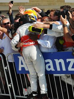 Race winner Lewis Hamilton, McLaren