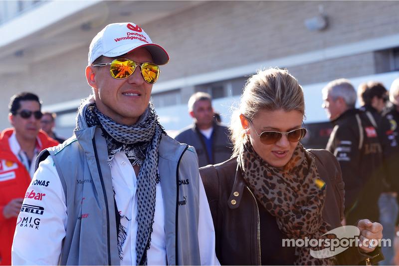 Michael Schumacher, Mercedes AMG F1 ve eşi Corinna Schumacher