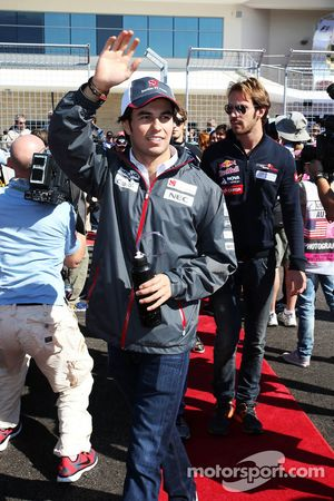 Sergio Perez, Sauber tijdens rijdersparade