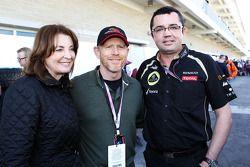 Ron Howard, Film Director, met Eric Boullier, Lotus F1 Team Principal