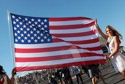 USA flag on the grid