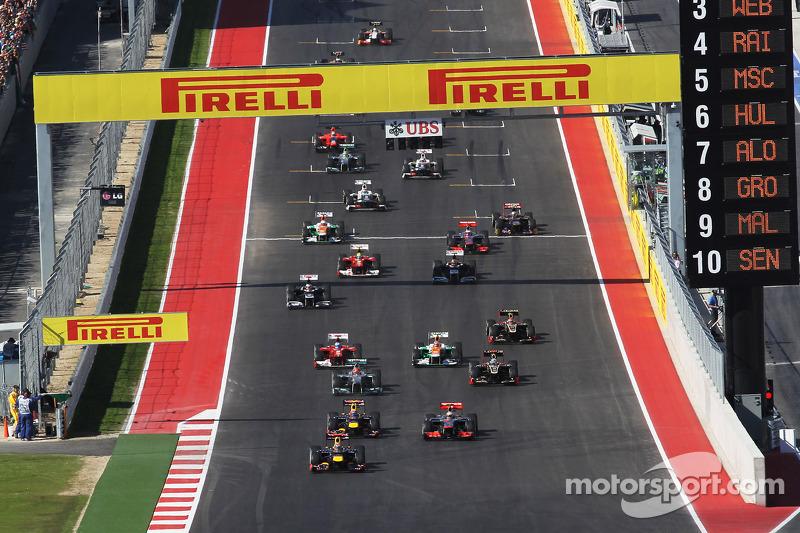 Dez pistas já foram palco da Fórmula 1 nos EUA: Como GP dos EUA, a F1 já foi a Austin, Indianápolis, Phoenix, Watkins Glen, Riverside e Sebring. A categoria também já correu em Dallas, Detroit, Las Vegas e Long Beach.