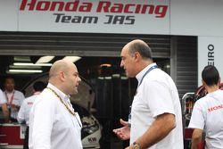 Andrea Adamo, Chief Designer, Honda Racing Team Jas and Jaime Puig, SEAT Sport director