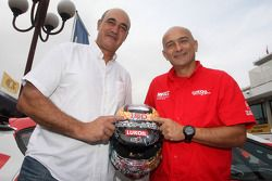 Jaime Puig, SEAT Sport director and Gabriele Tarquini, SEAT Leon WTCC, Lukoil Racing Team with the h