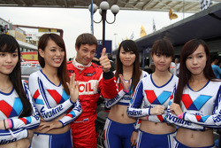 Alexey Dudukalo, SEAT Leon WTCC, Lukoil Racing Team and Grid Girls