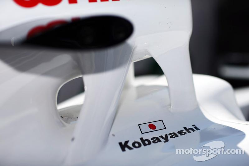 Kamui Kobayashi, Sauber C31 detail