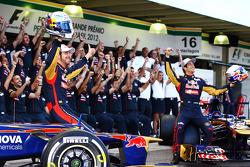 Jean-Eric Vergne, Scuderia Toro Rosso and Daniel Ricciardo, Scuderia Toro Rosso at the Scuderia Toro
