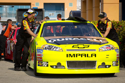 Car of Paul Menard, Richard Childress Racing Chevrolet at technical inspection