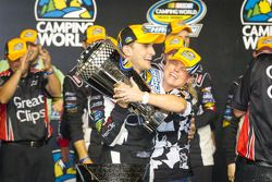 Championship victory lane: NASCAR Camping World Series 2012 champion James Buescher, Turner Motorspo