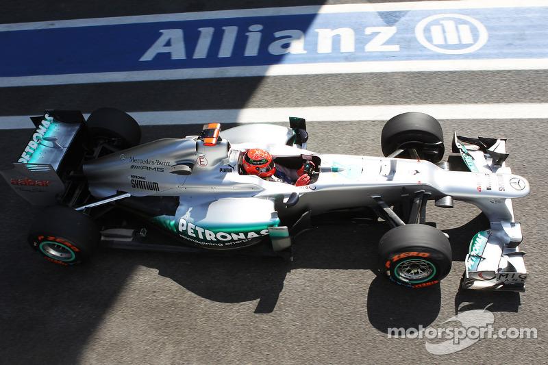 Michael Schumacher in seinem letzten Freitagstraining