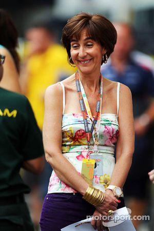 Viviane Senna, moeder van Bruno Senna, Williams
