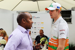 Anthony Hamilton, with Nico Hulkenberg, Sahara Force India F1