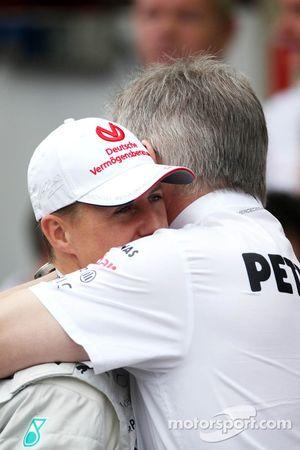 Michael Schumacher, Mercedes GP and Ross Brawn, Mercedes GP, Technical Director