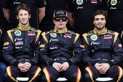 Romain Grosjean, Lotus F1 Team; Kimi Raikkonen, Lotus F1 Team and Jérôme d'Ambrosio, Lotus F1 Team T
