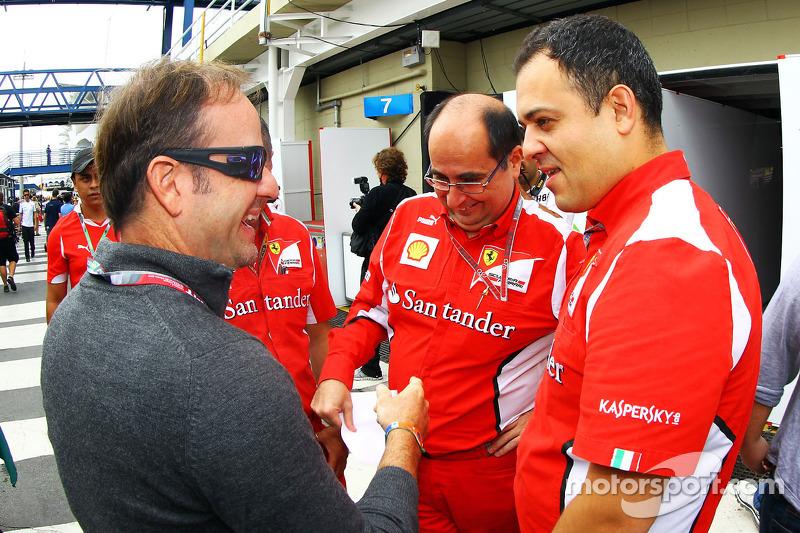 Rubens Barrichello, met Ferrari vrienden