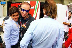 Emerson Fittipaldi, with his grandson Pietro Fittipaldi, and Rubens Barrichello