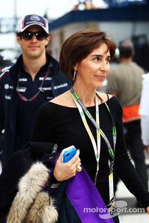 Viviane Senna, met zoon Bruno Senna, Williams