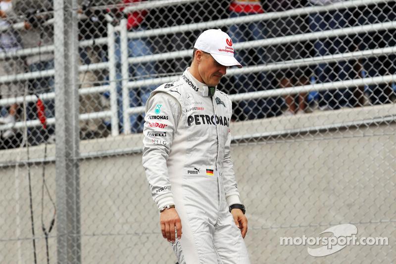 Michael Schumacher, Mercedes AMG F1, en el desfile de pilotos.