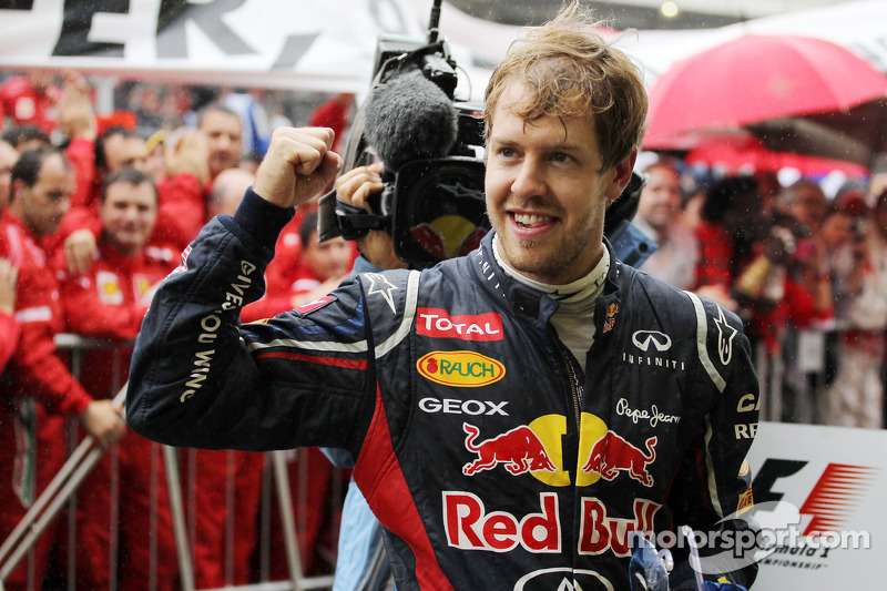 Sebastian Vettel, Red Bull Racing celebrates his World Championship in parc ferme