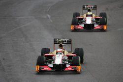 Narain Karthikeyan, HRT Formula One Team HRT voor team mate Pedro De La Rosa, HRT Formula 1 Team