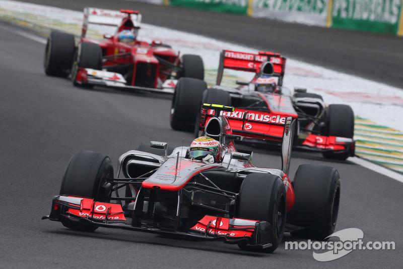 Final race with McLaren in 2012