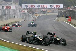 Vitaly Petrov, Caterham F1 Team and Heikki Kovalainen, Caterham F1 Team
