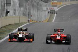 Narain Karthikeyan, HRT Formula One Team and Timo Glock, Marussia F1 Team