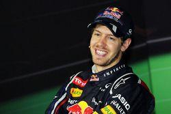 Wereldkampioen Sebastian Vettel, Red Bull Racing in de persconferentie
