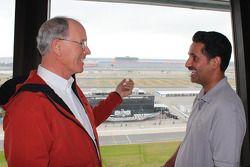 Shaikh Salman Bin Isa Al Khalifa, Bahrain International Circuit, met GRAND-AM Road Racing Founder en