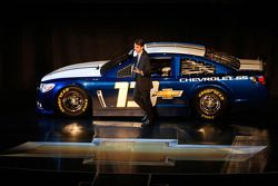 Jeff Gordon con el auto Chevrolet SS Sprint Cup 2013