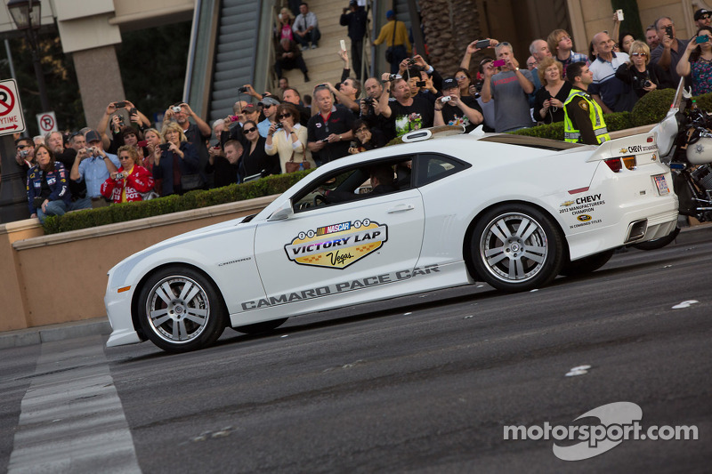 Pace cars on the Victory Lap