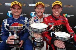Podium: race winner Craig Lowndes, second place Tim Slade, third place James Courtney