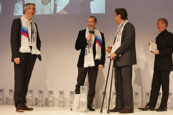 Thomas Biagi, Alex Zanardi en Head of BMW Sport Jens Marquardt
